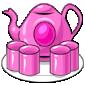 Pink Plastic Tea Set