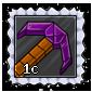 Cubed Lanalium Pickaxe Stamp