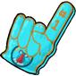 Team Blue Audril Foam Finger