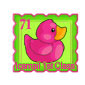 Reverse Pink Ducky Stamp Before 2015 revamp