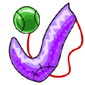 Purple Sock and Ball Before 2016 revamp