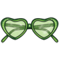 Green Heart Sunglasses