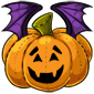 Carved Pumpkin Bat Plushie