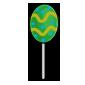 Green Jakrit Egg Lollipop