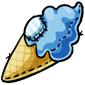 Blueberry Ice Cream Cone Plushie