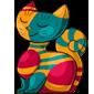 Artsy Cat Statue