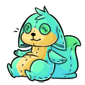 Bluegreen Dabu Plushie