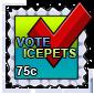 Vote IcePets Stamp