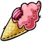 Strawberry Ice Cream Cone Plushie