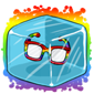 Rainbow Hipster Glasses Ice Cube