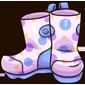 Polka Dot Rainboots