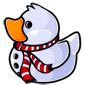 Striped Scarf Snowman Ducky