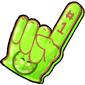 Team Green Trido Foam Finger