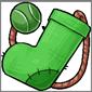 Green Sock and Ball