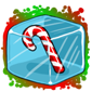 Candy Cane Ice Cube