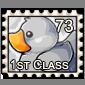 Grey DUCK! Stamp