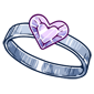 Diamond Heart Shaped Ring