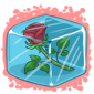 Single Rose Ice Cube