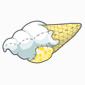 Vanilla Ice Cream Cone Plushie Before 2015 revamp