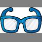 Blue Hipster Glasses