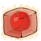 Red Apple Ice Cube