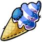 Blueberry Swirl Ice Cream Cone Plushie