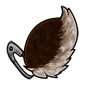 Fluffy Brown Jakrit Tail
