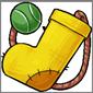 Yellow Sock and Ball
