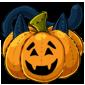 Carved Pumpkin Cat Plushie