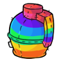 Rainbow Grenade Plushie