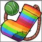 Rainbow Sock and Ball
