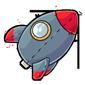 Rocketship Plushie