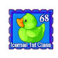 Green Ducky Stamp Before 2015 revamp