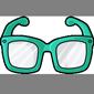 Bluegreen Hipster Glasses