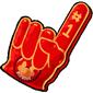 Team Red Dovu Foam Finger