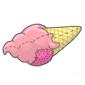Strawberry Ice Cream Cone Plushie Before 2015 revamp