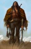 Male Barbarian Portrait 2MBAR1 L