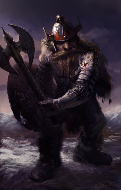 Dwarf Male Fighter Portrait DMF G