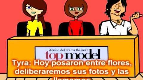 Acción del drama the next top model Episodio 8