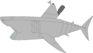 Mechanical great white shark pose 1b