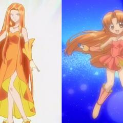 Sara and Seira, the Orange Pearl Voices