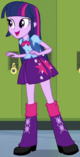 Twilight Sparkle human at lockers EG