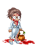 Eileen as a zombie fashionista
