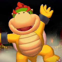 <b>Bowser Junior on his Exercise Ball</b>