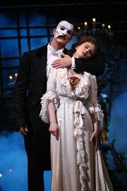 The Phantom soothing Christine to sleep