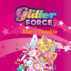 The Logo for the Series with the Girls and Glitter Pens