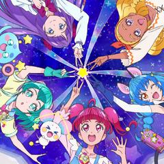 Helen, Luna, Daisy, Mabel, and Sabrina making a star sign