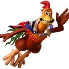 Rocky as The Big Red Chicken