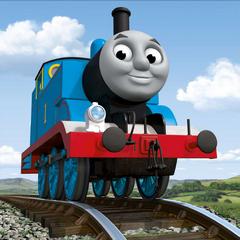 Thomas the Tank Engine as Azul the Little Blue Train