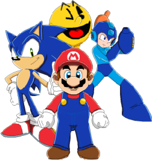 Image Mario Sonic Pac Man And Megaman Png Idea Wiki